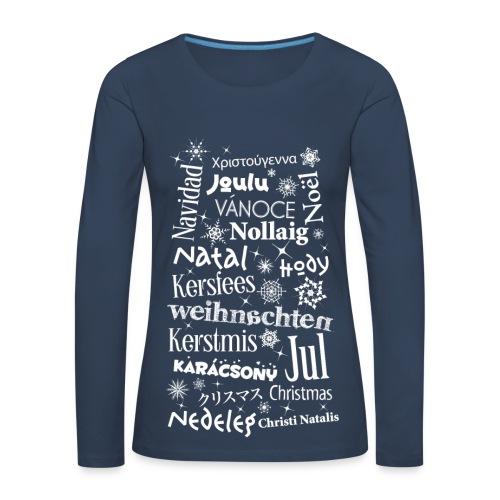 Frauen Langarmshirt Weihnachten Christmas Noël Santa - Women's Premium Longsleeve Shirt
