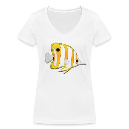 T-shirt Chelmon femme - T-shirt bio col V Stanley & Stella Femme