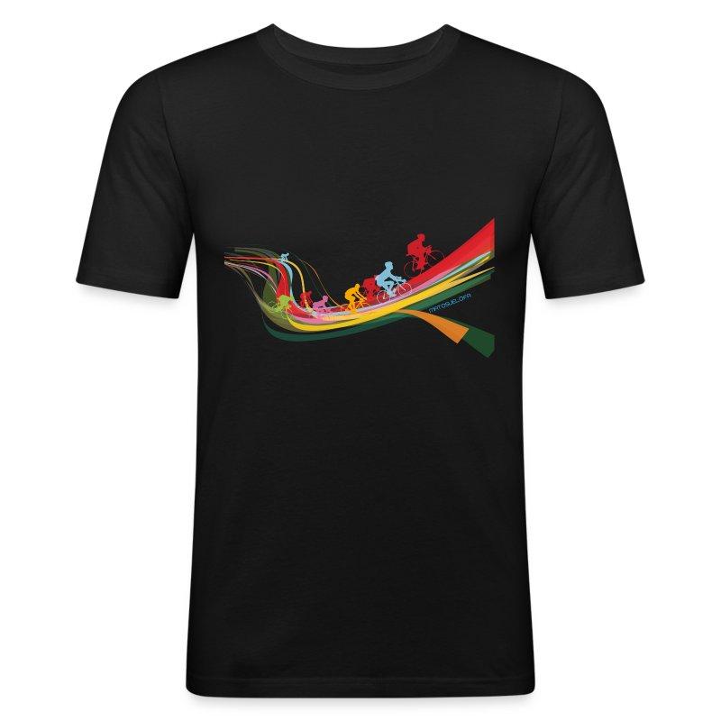 cyclos couleurs - Tee shirt près du corps Homme
