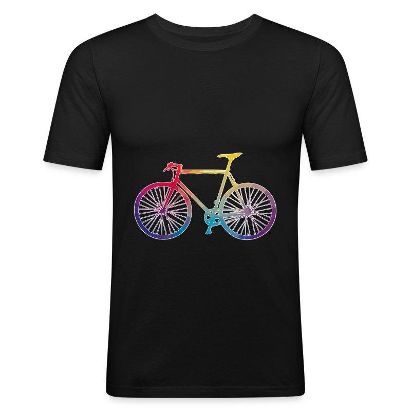 Vélo multicolore - Tee shirt près du corps Homme