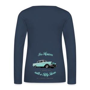 Women's Premium Longsleeve Shirt | 57 Chevy | Classic American Automotive - Women's Premium Longsleeve Shirt