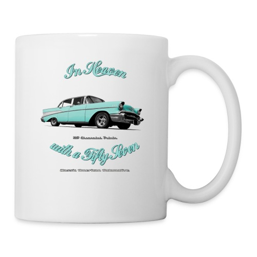 White mug | 57 Chevy | Classic American Automotive - Mug