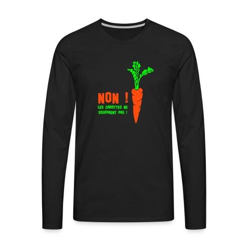 T-shirt manches longues Premium Homme - Impession couleurs fluo.
