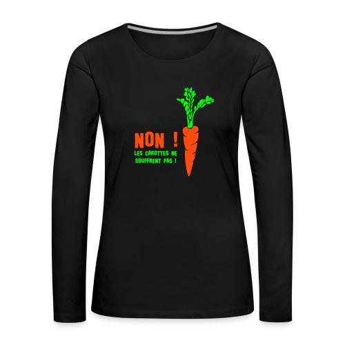 T-shirt manches longues Premium Femme - Impression couleurs fluo.