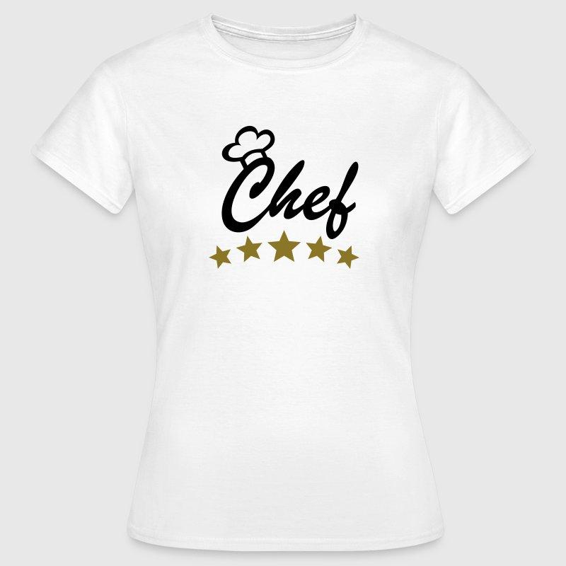 5 sterne chef chefkoch koch sternekoch kochm tze t shirt for Koch 5 sterne