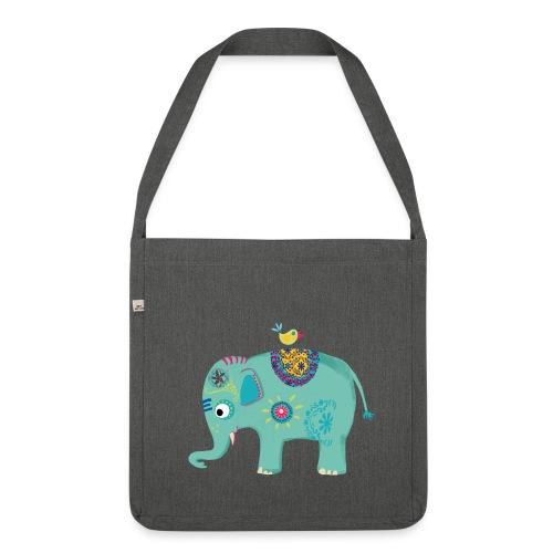 Schultertasche Elefant - Schultertasche aus Recycling-Material