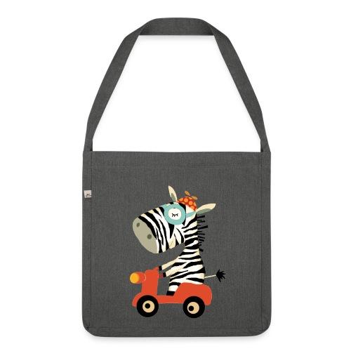 Schultertasche Zebra  - Schultertasche aus Recycling-Material