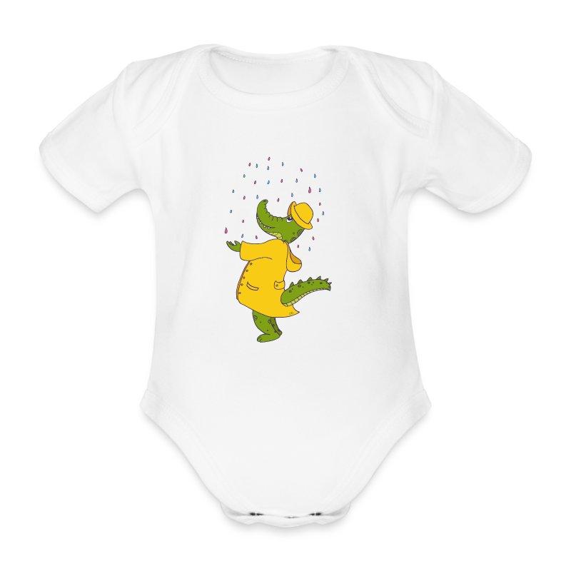 crocodile sous la pluie - Body bébé bio manches courtes