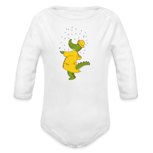 crocodile sous la pluie - Body bébé bio manches longues