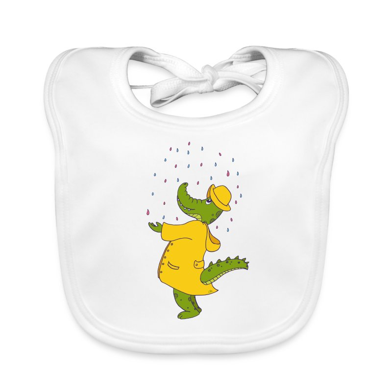 crocodile sous la pluie - Bavoir bio Bébé