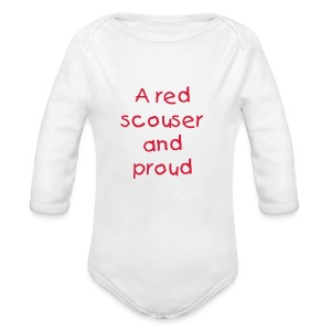 Liverpool baby one piece long sleeved shirt - Organic Longsleeve Baby Bodysuit