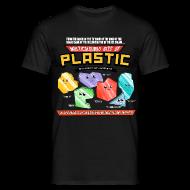 T-Shirts ~ Men's T-Shirt ~ Multicoloured Bits of Plastic - Choose Colour