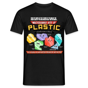 Multicoloured Bits of Plastic - Choose Colour - Men's T-Shirt
