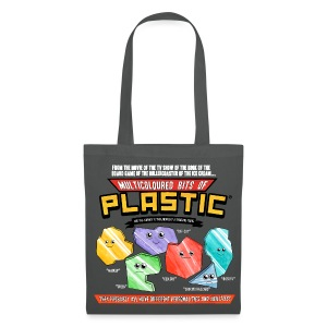 Multicoloured Bits of Plastic Bag - Choose Colour - Tote Bag