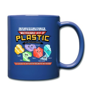 Multicoloured Bits of Plastic Mug - Choose Colour - Full Colour Mug