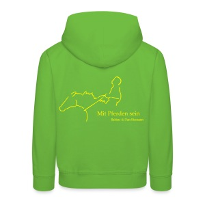MPS Reiter & Ying Yang - KIDS/TEEN Hoody (Front: Yellow/Back: Yellow -digital) - Kinder Premium Hoodie