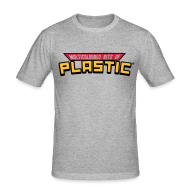 T-Shirts ~ Men's Slim Fit T-Shirt ~ Multicoloured Vinyl Logo Print