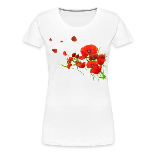 Tee-shirt Coquelicot Ukrainien - T-shirt Premium Femme