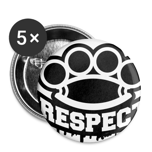 Schlagring Respect Button 5er Pack - Buttons mittel 32 mm