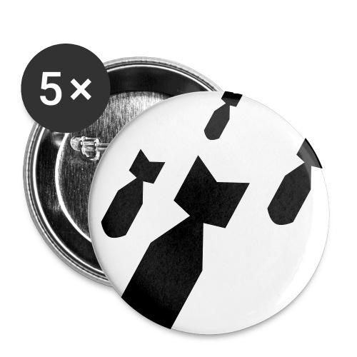 Bomben Fallen Button 5er Pack - Buttons mittel 32 mm