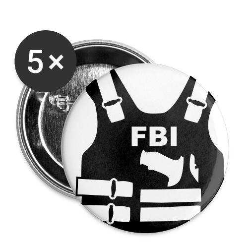 FBI Button 5er Pack - Buttons mittel 32 mm