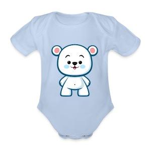 Polar Bear Boy - Organic Short-sleeved Baby Bodysuit