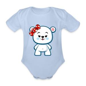 Polar Bear Girl - Organic Short-sleeved Baby Bodysuit