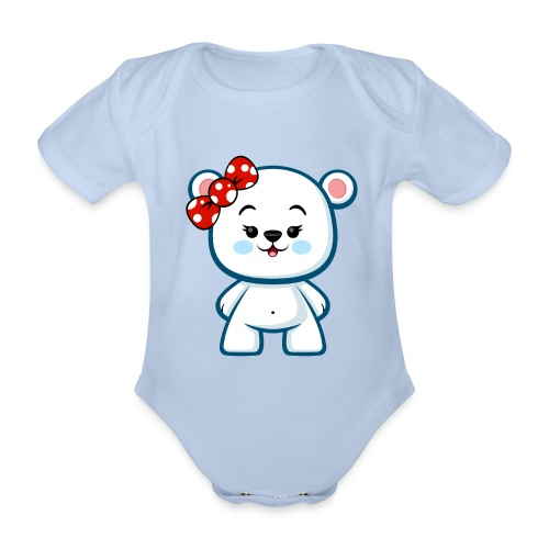 Polar Bear Girl - Organic Short-sleeved Baby Bodysuit