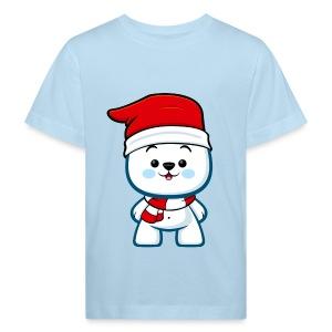 Christmas Polar Bear Boy - Kids' Organic T-shirt