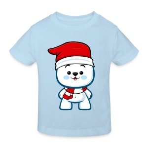 Christmas Polar Bear Boy - Kids' Organic T-shirt