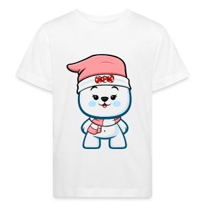 Christmas Polar Bear Girl - Kids' Organic T-shirt