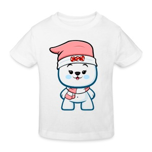 Christmas Polar Bear Girl - Kids' Organic T-shirt