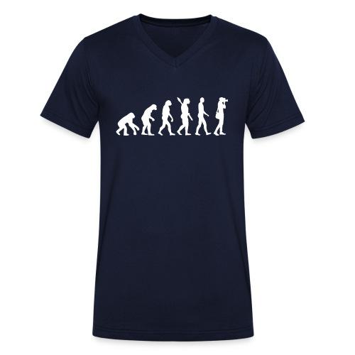 evolutie - Mannen bio T-shirt met V-hals van Stanley & Stella