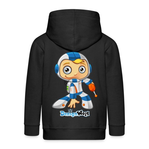 Space Boy - SO - Kids' Premium Zip Hoodie
