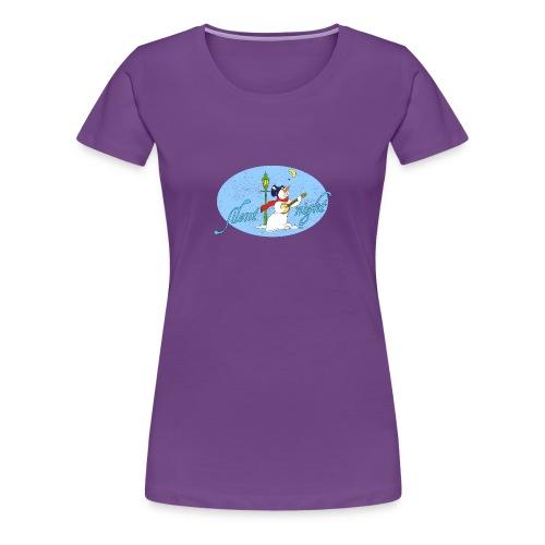 Frauen T-Shirt Silent night Schneemann Winter Mond - Women's Premium T-Shirt