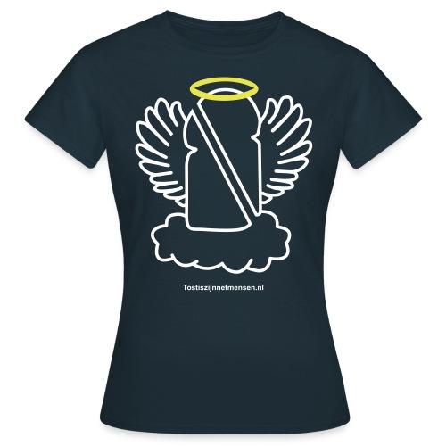 HolyTosti - vrouw (wit/geel) - Vrouwen T-shirt