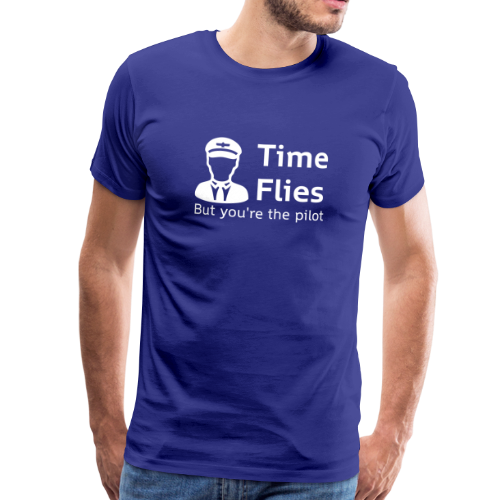 Time Flies - Mannen Premium T-shirt