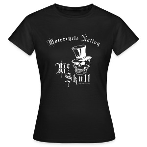Biker Lady-Shirt | Mc Skull | Motorcycle Nation - Frauen T-Shirt