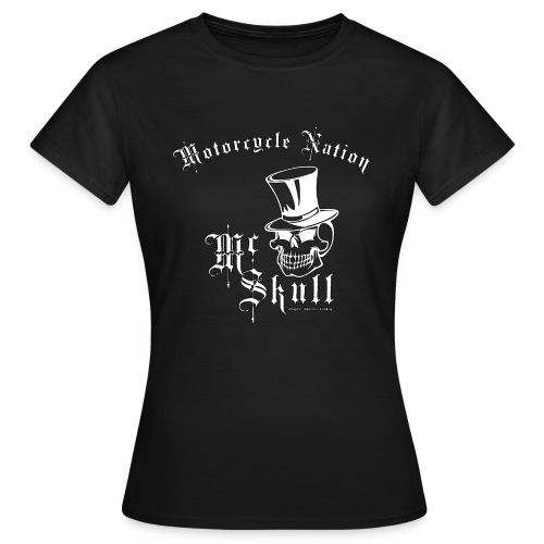 Biker Lady-Shirt | Mc Skull | Motorcycle Nation - Frauen T-Shirt
