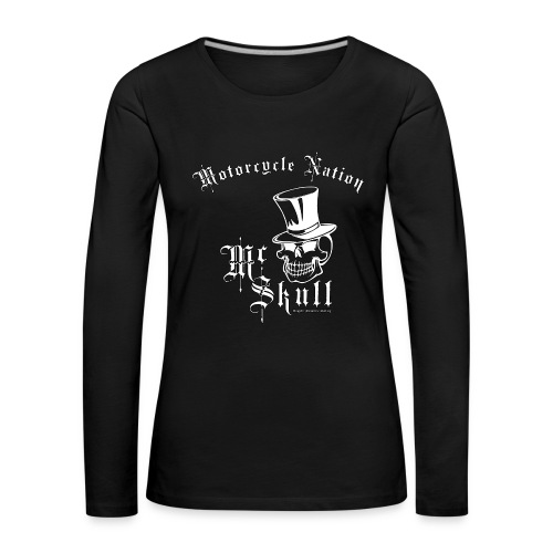 Biker Lady-Langarm-Shirt | Mc Skull | Motorcycle Nation - Frauen Premium Langarmshirt