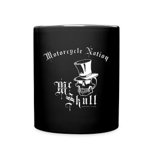 BikerKaffee Pott | Mc Skull | Motorcycle Nation - Tasse einfarbig