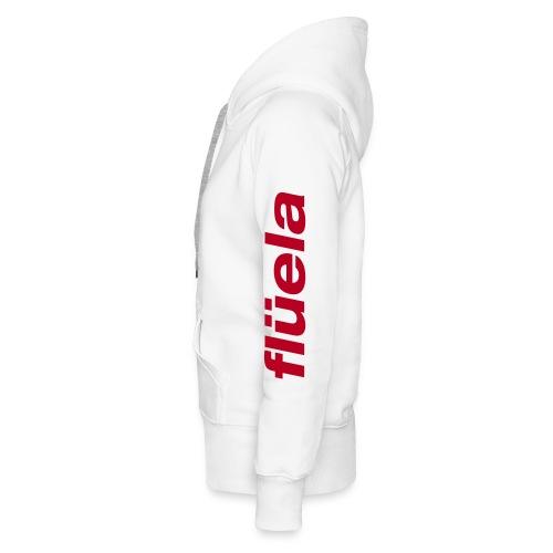 flüela women's Hoodie white/red - Frauen Premium Hoodie
