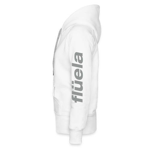 flüela women's Hoodie white/grey - Frauen Premium Hoodie
