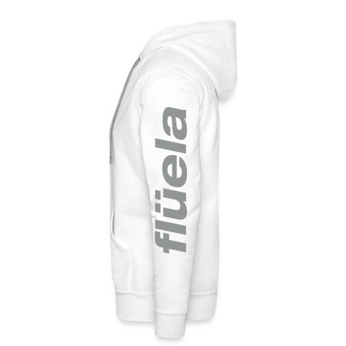 flüela men's Hoodie white/grey - Männer Premium Hoodie