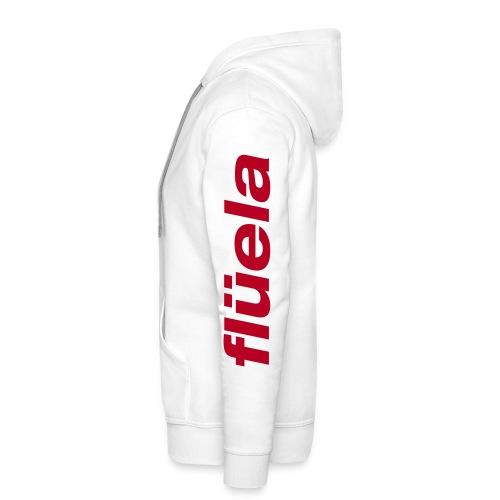 flüela men's Hoodie white/red - Männer Premium Hoodie