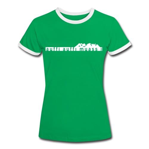 Wetterstein Lady - Frauen Kontrast-T-Shirt