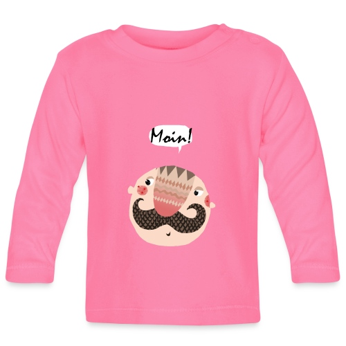 'Moin' Shirt für Babies - Baby Langarmshirt