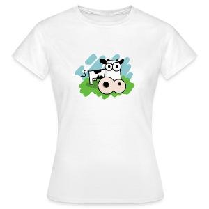 Vrouwen T-shirt Koe - Vrouwen T-shirt