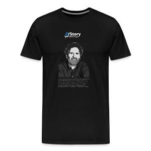 Michael Hauge - B&W Testimonial - Premium-T-shirt herr
