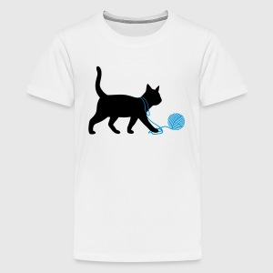 kat Dyr T-shirts - Teenager premium T-shirt
